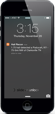 1.75 Hail Detected At Paducah, KY, 75.5 miles NW of Clarksville TN
